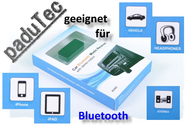 Kfz Autoradio Bluetooth Adapter Audio Stecker kabellos Musik hören
